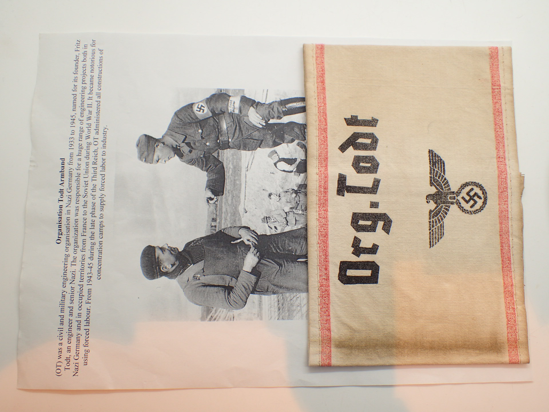 Lot 118 - German WWII Organisation Todt armband