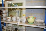 Lot 44 - *SHELF OF PORCELAIN WARE AND COLLECTABLES