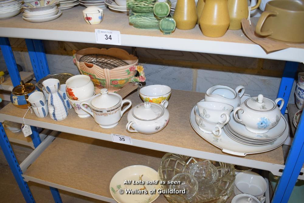 Lot 35 - *SHELF OF PORCELAIN WARE AND COLLECTABLES
