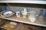 Lot 19 - *SHELF OF PORCELAIN WARE AND COLLECTABLES