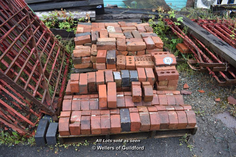 Lot 35 - TWO MIXED PALLETS CONTAINING STANDARD AND COPING/PLINTH BRICKS