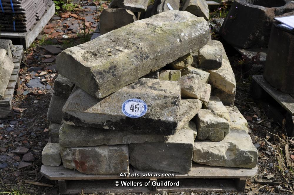 Lot 45 - PALLET CONTAINING MIXED STONE WINDOW SECTIONS
