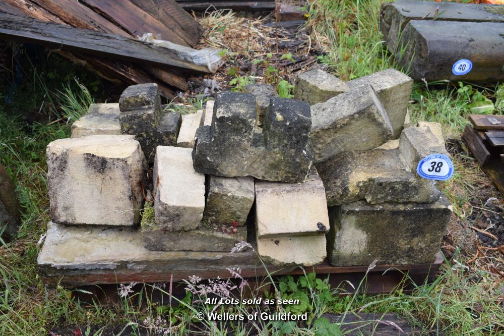 Lot 38 - PALLET CONTAINING MIXED STONE WINDOW SECTIONS