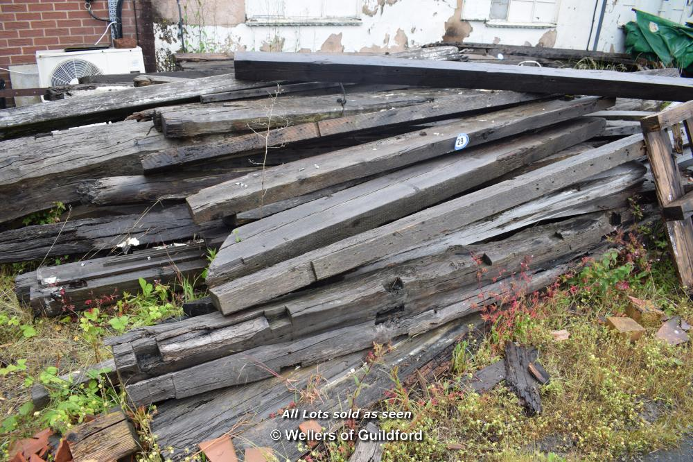 Lot 29 - VERY LARGE QUANTITY OF RECLAIMED BEAMS AND RAFTERS