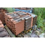 Lot 13 - PALLET CONTAINING A LARGE QUANTITY OF DOUBLE PAN ROOF TILES