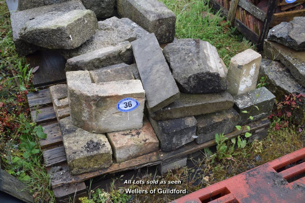 Lot 36 - PALLET CONTAINING MIXED STONE WINDOW SECTIONS