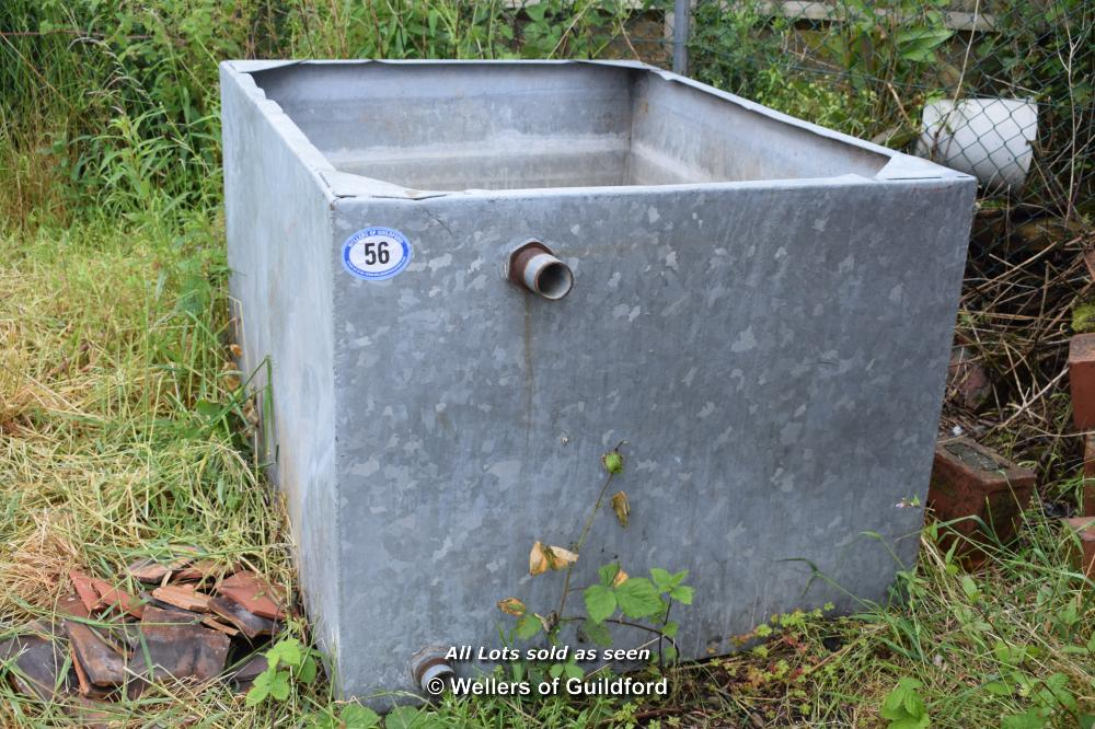 Lot 56 - LARGE GALVANISED TANK, 1150MM X 1550MM X 950MM