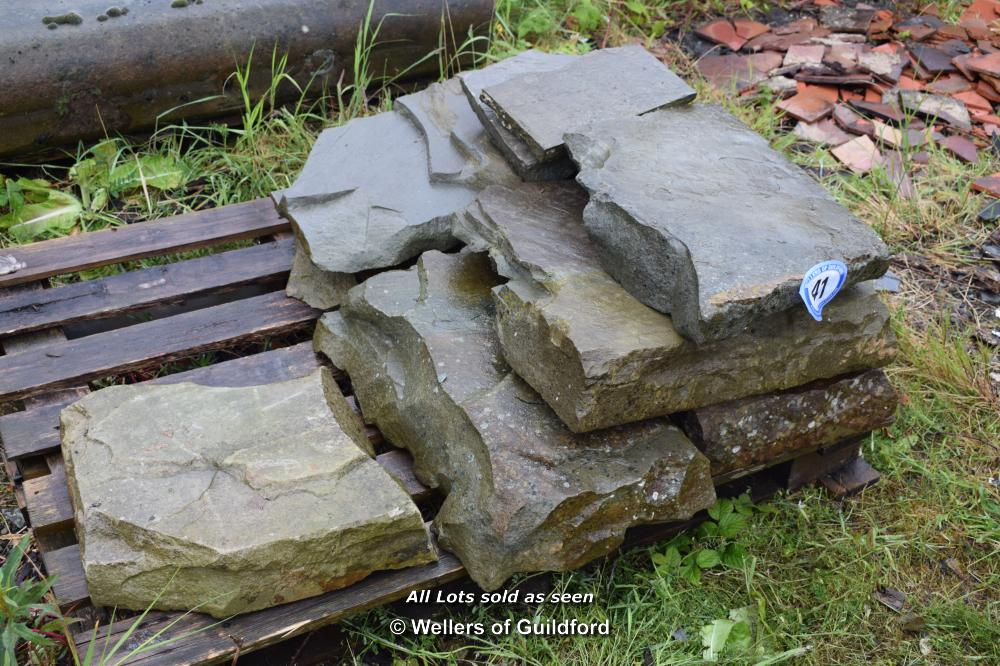 Lot 41 - SMALL QUANTITY OF YORKSTONE - LARGE THICKNESS