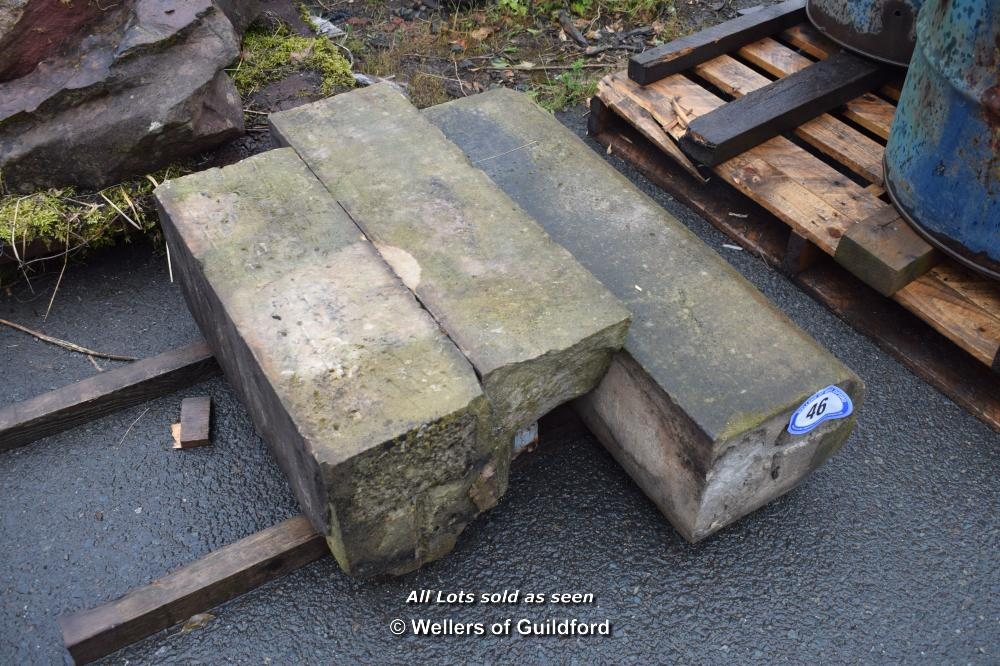 Lot 46 - THREE STONE WINDOW PIECES