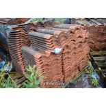 Lot 10 - PALLET CONTAINING A LARGE QUANTITY OF DOUBLE PAN ROOF TILES