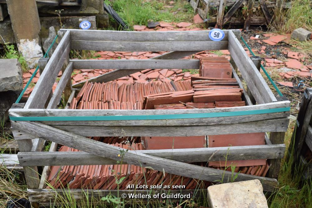 Lot 58 - WOODEN CRATE CONTAINING MACHINE MADE SINGLE ROOF TILES