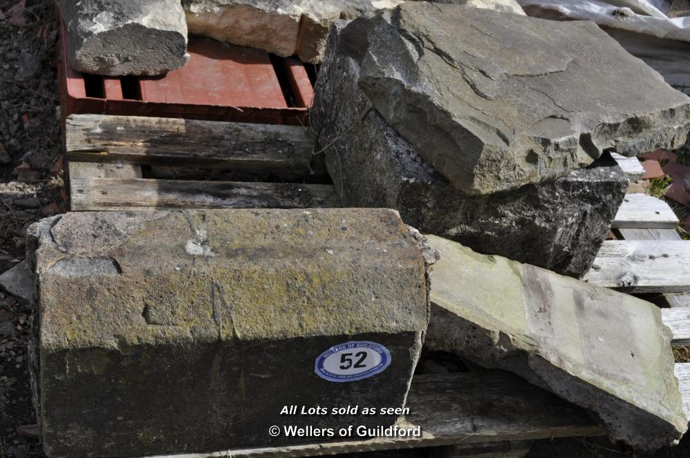 Lot 52 - PALLET CONTAINING MIXED STONE SECTIONS