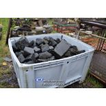 Lot 48 - PLASTIC CRATE CONTAINING BLACK GRANITE SETTS