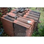 Lot 24 - PALLET CONTAINING A LARGE QUANTITY OF DOUBLE PAN ROOF TILES