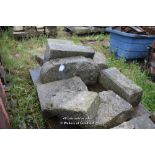 Lot 37 - LARGE PALLET CONTAINING GRANITE STONE FIRE SURROUND