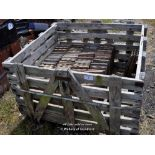 Lot 2 - WOODEN CRATE OF MIXED MACHINE MADE ROOF TILES