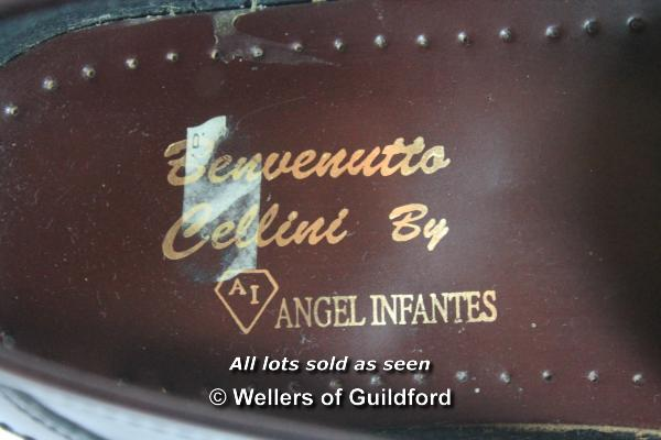 Lot 7368 - A pair of gentleman's brown leather size 44 Angel Infantes loafer shoes by Bevenutto Cellini