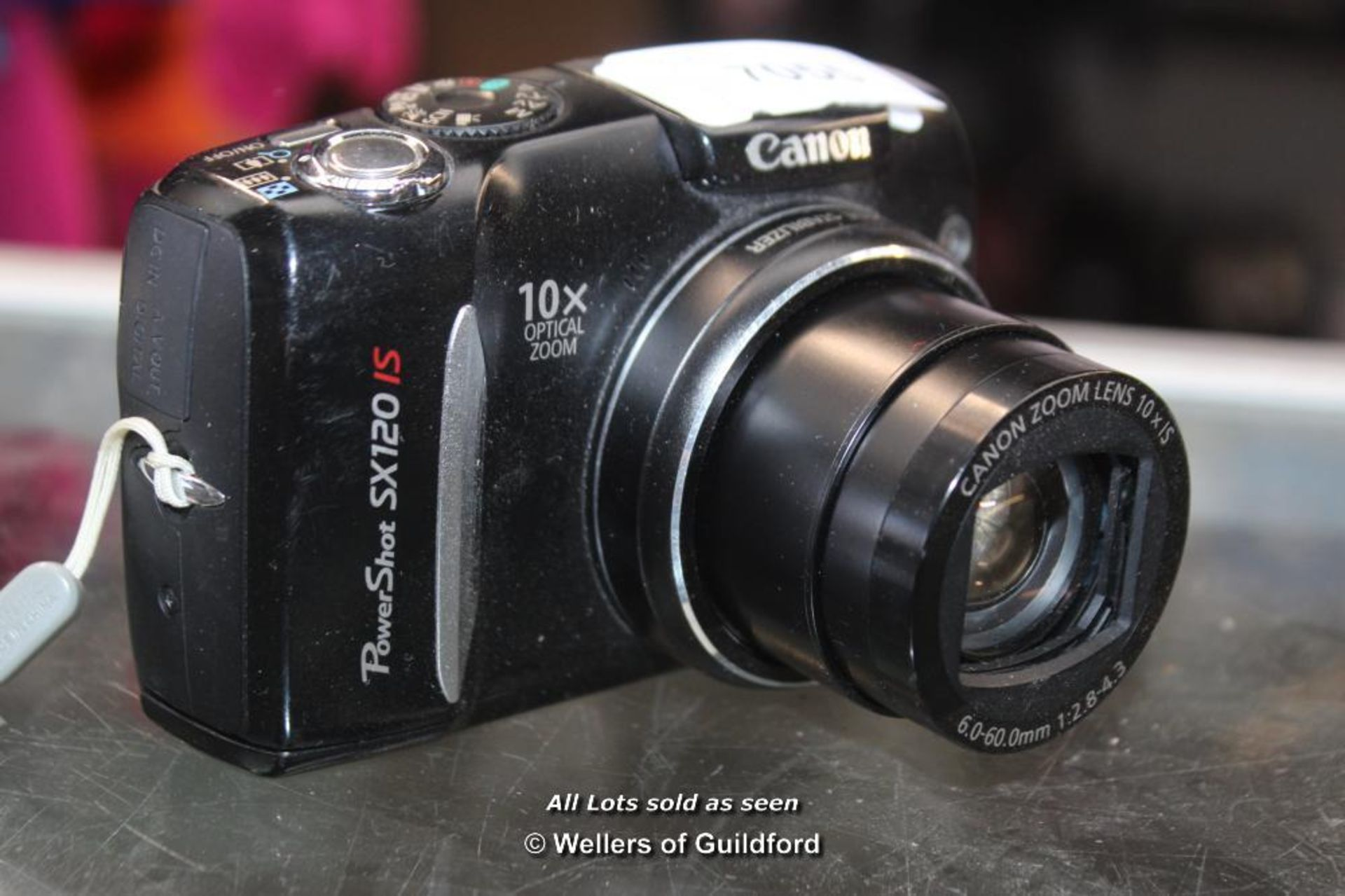 Lot 7055 - *CANON POWERSHOT SX120 IS CAMERA [504-23/09]
