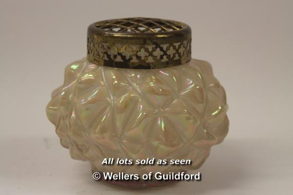 Lot 7458 - *Bohemian Willhelm Kralik mother of pearl glass vase (Lot subject to VAT) (LQD98)