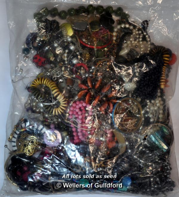 Lot 7036 - Sealed bag of costume jewellery, gross weight 3.21 kilograms