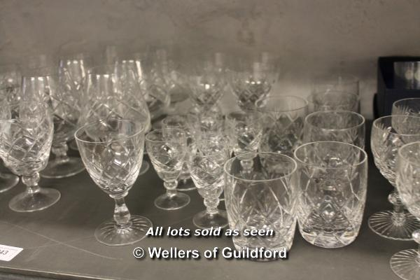 Lot 7243 - A quantity of cut glass wares.
