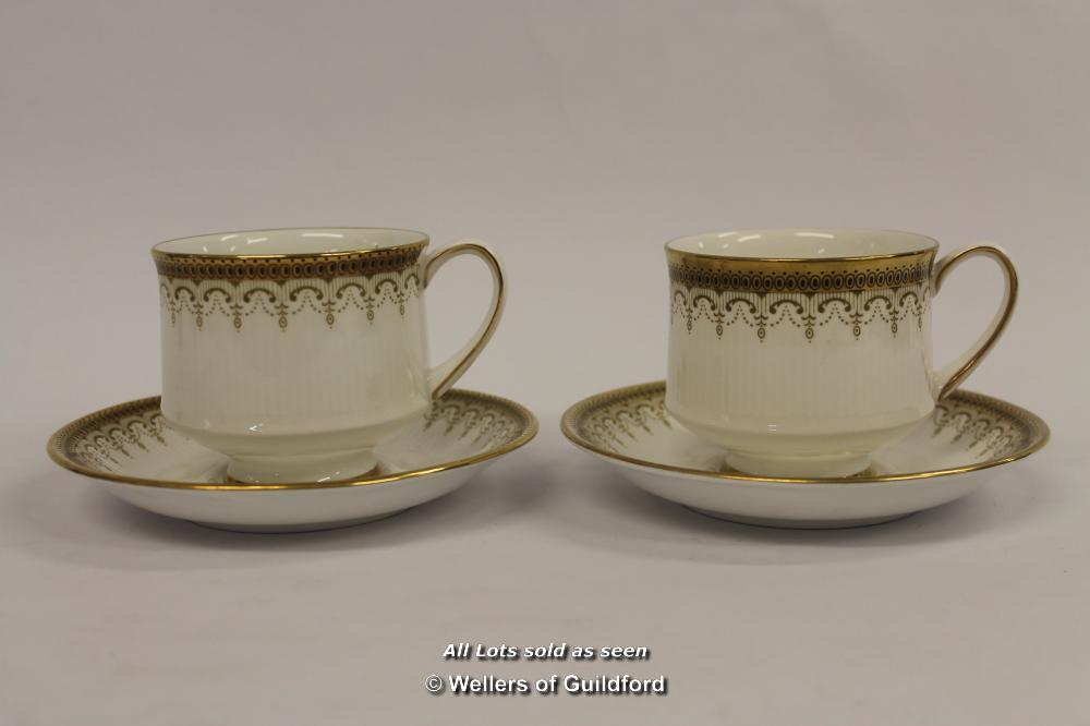 Lot 7578 - *Vintage Paragon China Athena Beautiful Gold Tea Cups And Saucers- (Lot Subject To VAT) [LQD100]