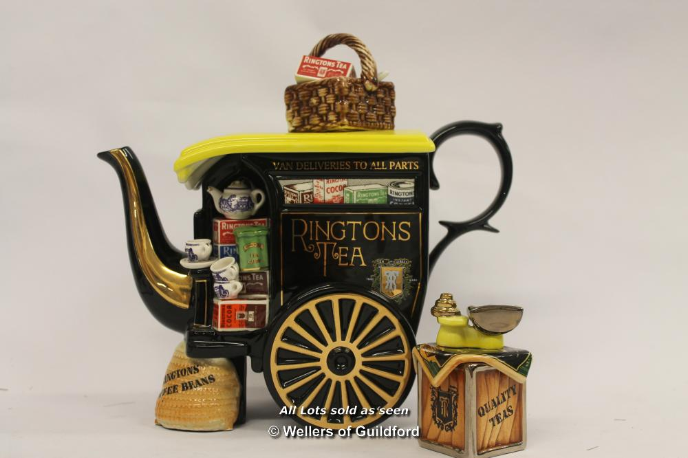 Lot 7589 - *Rare Ringtons The Tea Merchant Teapot Limited Edition Cardew Signed 3647 Of 7500- (Lot Subject To