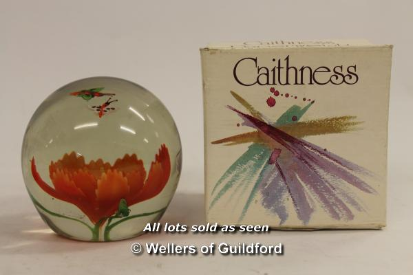 Lot 7352 - Two boxed Caithness paperweights: Bewitched and Cauldron; a further unsigned paperweight.