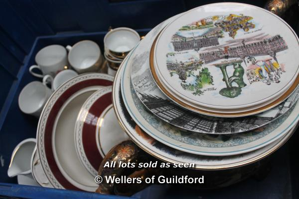 Lot 7424 - *Assortment of china ware including plates and part coffee service (Lot subject to VAT)