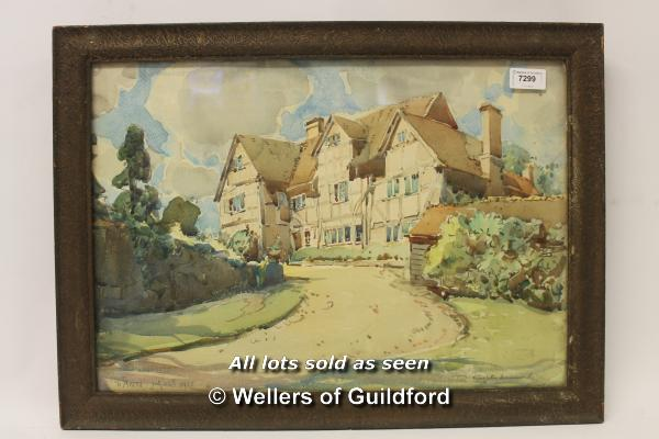 Lot 7299 - Knighton Hammond, watercolour, country house, inscribed 'To Ann July 26th 1931' in pencil, signed