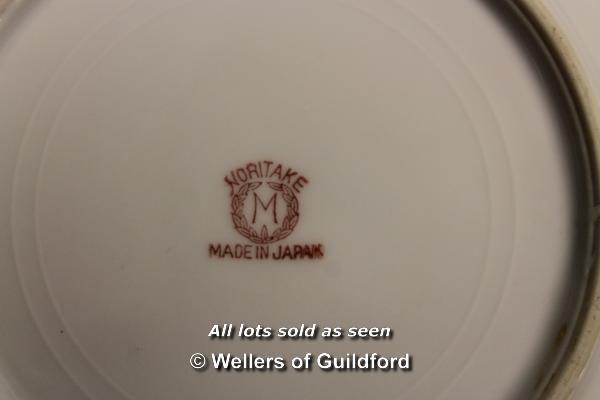 Lot 7344 - Gouda type tobacco jar, painted Holland mark; two Royal Worcester oval meat platters, one with major