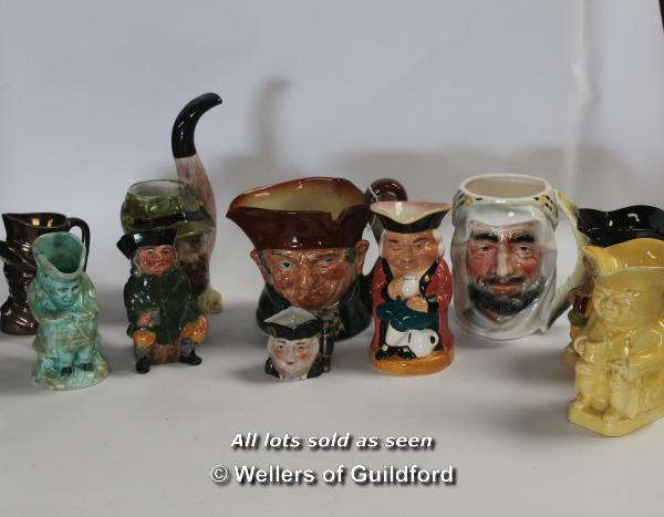 Lot 7403 - *Royal Doulton character jug Old Charley and nine further toby or character jugs (Lot subject to