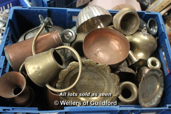 Lot 7419 - *Large assortment of copper and brass wares (Lot subject to VAT)