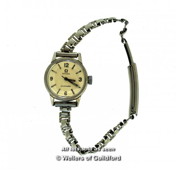 Lot 7016 - Ladies' vintage Omega Seamaster cocktail watch in stainless steel