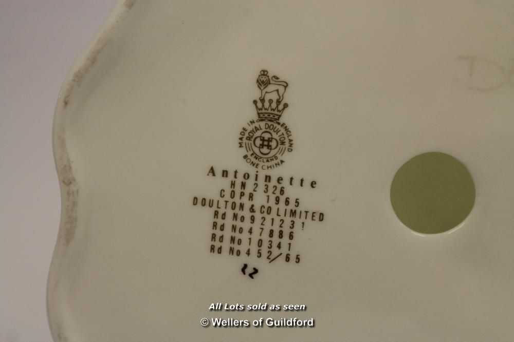 Lot 7604 - *Royal Doulton 'Antoinette' H.N 2326 Bone China Pretty Lady Glazed Figurine- (Lot Subject To VAT) [