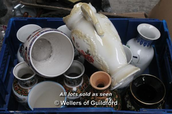 Lot 7420 - *Assorted porceline and china ware jugs and vases (Lot subject to VAT)