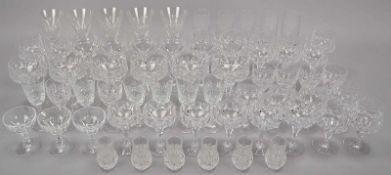 Großes umfangreiches Gläser-Konvolut, u.a. Nachtmann und Peill & Putzler, Kristallglas, verschiedene