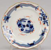 Meissen, Schauteller, I. Wahl, Dekor 'Blauer reicher Drache', rückseitig mit Aufhängevorrichtung;