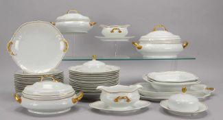 Rosenthal Sanssouci-Speiseservice für 12 Personen: 12x Speiseteller (davon 7x Goldrand abweichend
