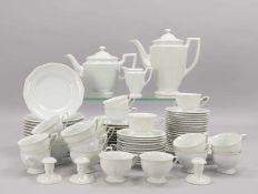 Rosenthal, umfangreiches Kaffeeservice/Teeservice, 'Maria Weiß', umfassend: 2x Kannen, 1