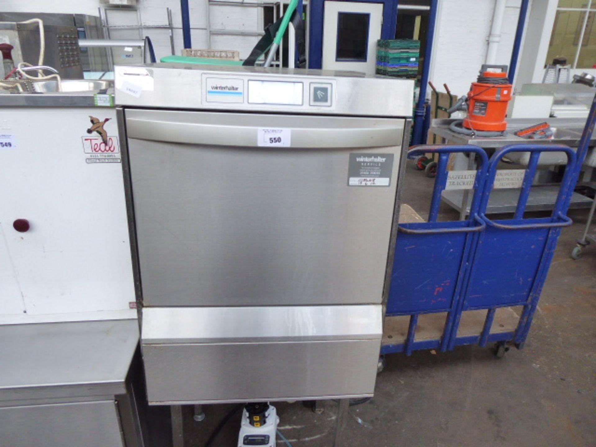 Lot 550 - 60cm Winterhalter drop front dishwasher on stand