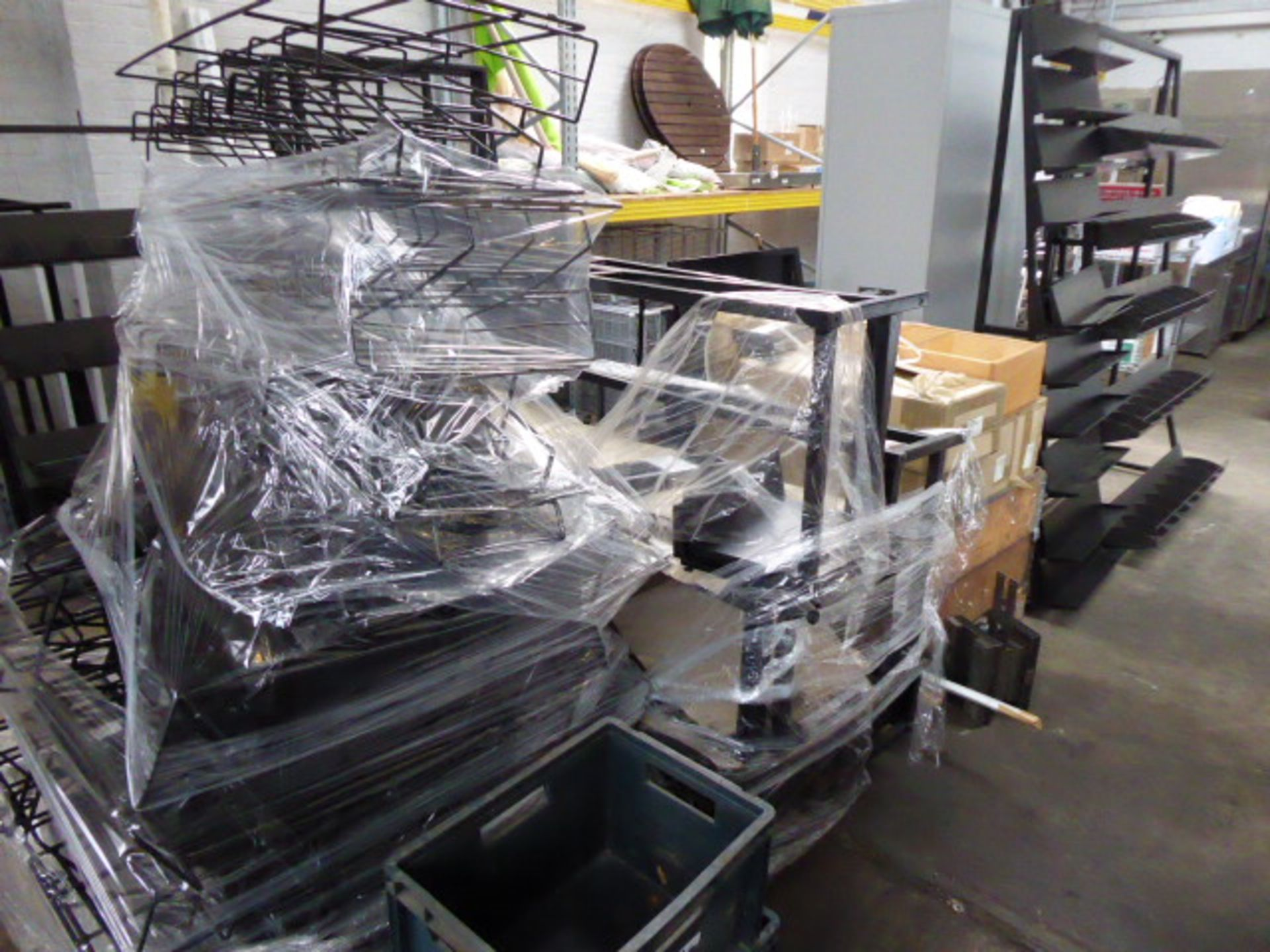 Lot 754 - Large quantity of assorted metal stocks and work in progress. Includes 8 pallets of assorted