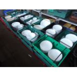 Lot 36 - Three pallets of white crockery including a large number of dinner plates, side plates, bowls,