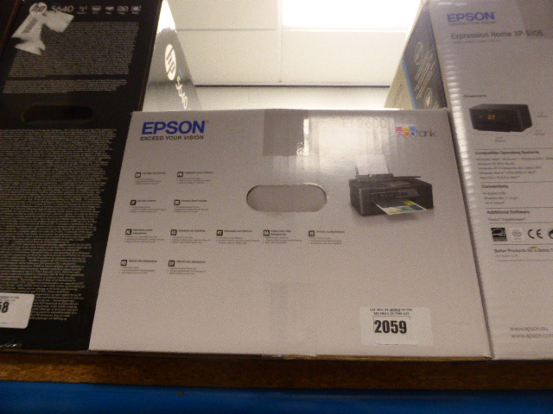 Lot 2059 - Epson ET2600 Eco Tank printer in box
