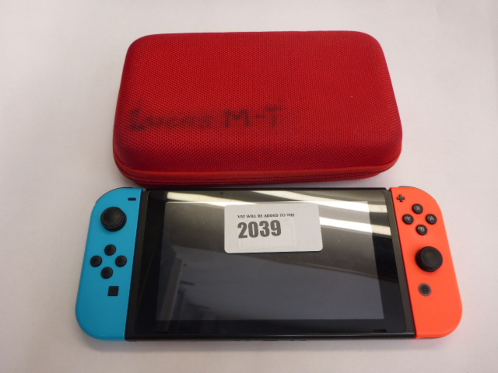 Lot 2039 - Nintendo Switch with carry case
