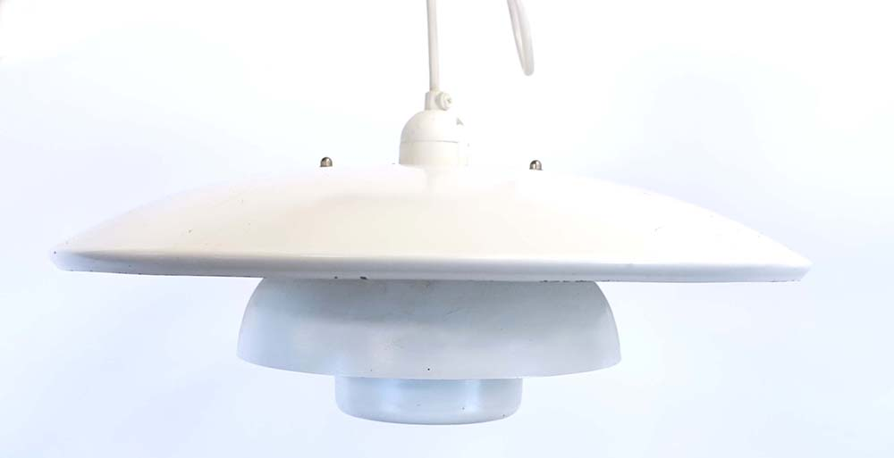 Lot 44 - A small white-enamelled four-tier ceiling light CONDITION REPORT: Working order