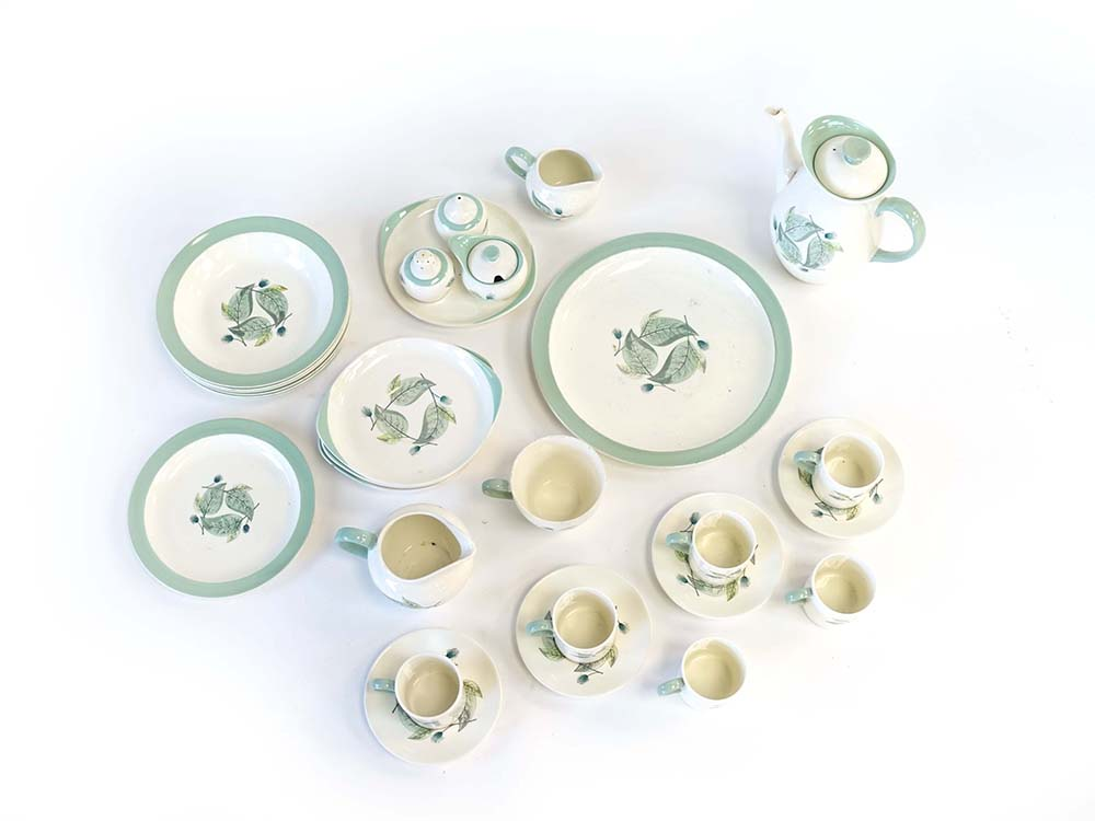 Lot 30 - A Wedgwood Woodbury part breakfast service decorated in autumnal patterns