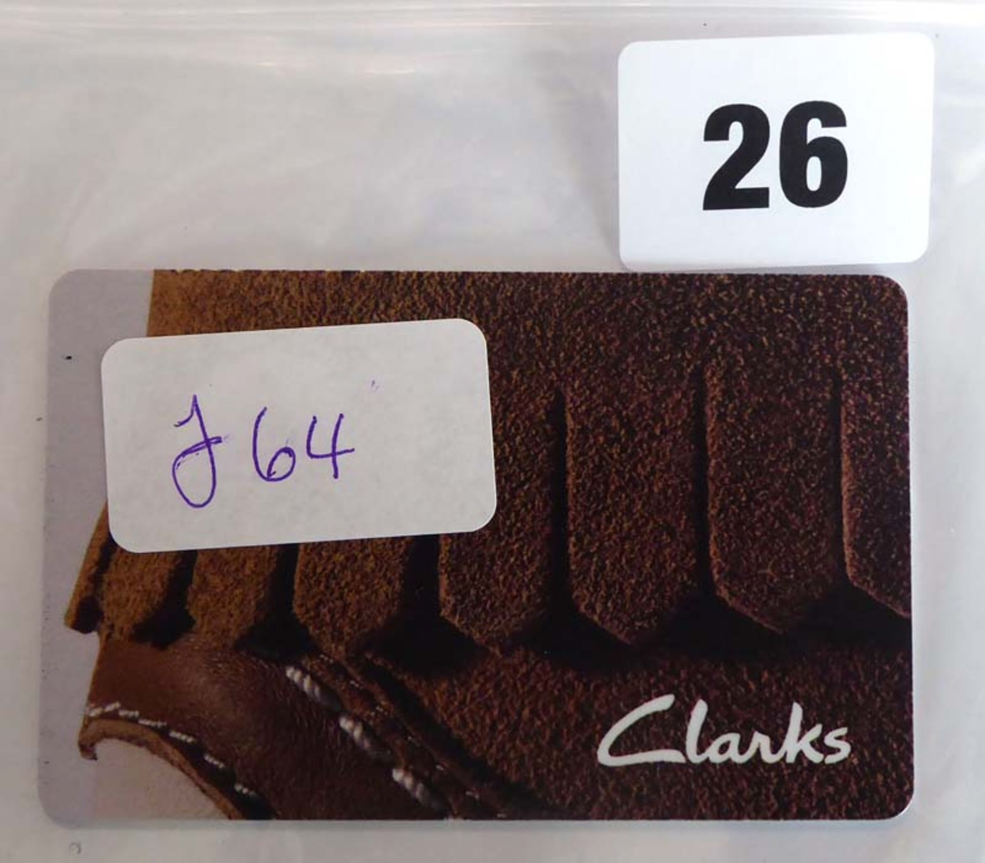 Lot 26 - Clarks (x1) - Total face value £64