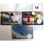 Lot 18 - Tesco (x3) - Total face value £100