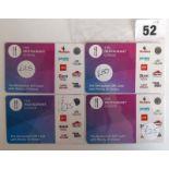 Lot 52 - Restaurant Choice/Card (x4) - Total face value £125
